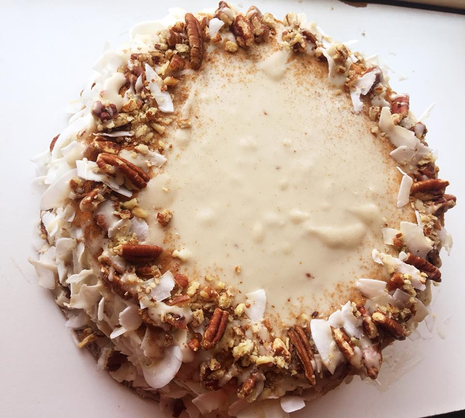 vegan cashew ice cream carrot cake