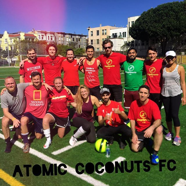 The Atomic Coconuts FC had an amazing 7-1 win for the first game of spring season! Nice work coconuts!  Www.mikkaminx.com/atomic-coconuts  #atomiccoconuts