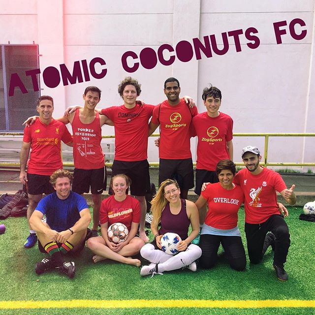 Another killer game with the coconuts this morning! I'm so impressed with how well everyone played today. Amanda Ford you killed it in goal!  I'm having the best day ever-soccer is so much fun! Thanks everyone for a great game! ⚽️🥥💥👌 Www.mikkaminx.com/atomic-coconuts  #AtomicCoconuts