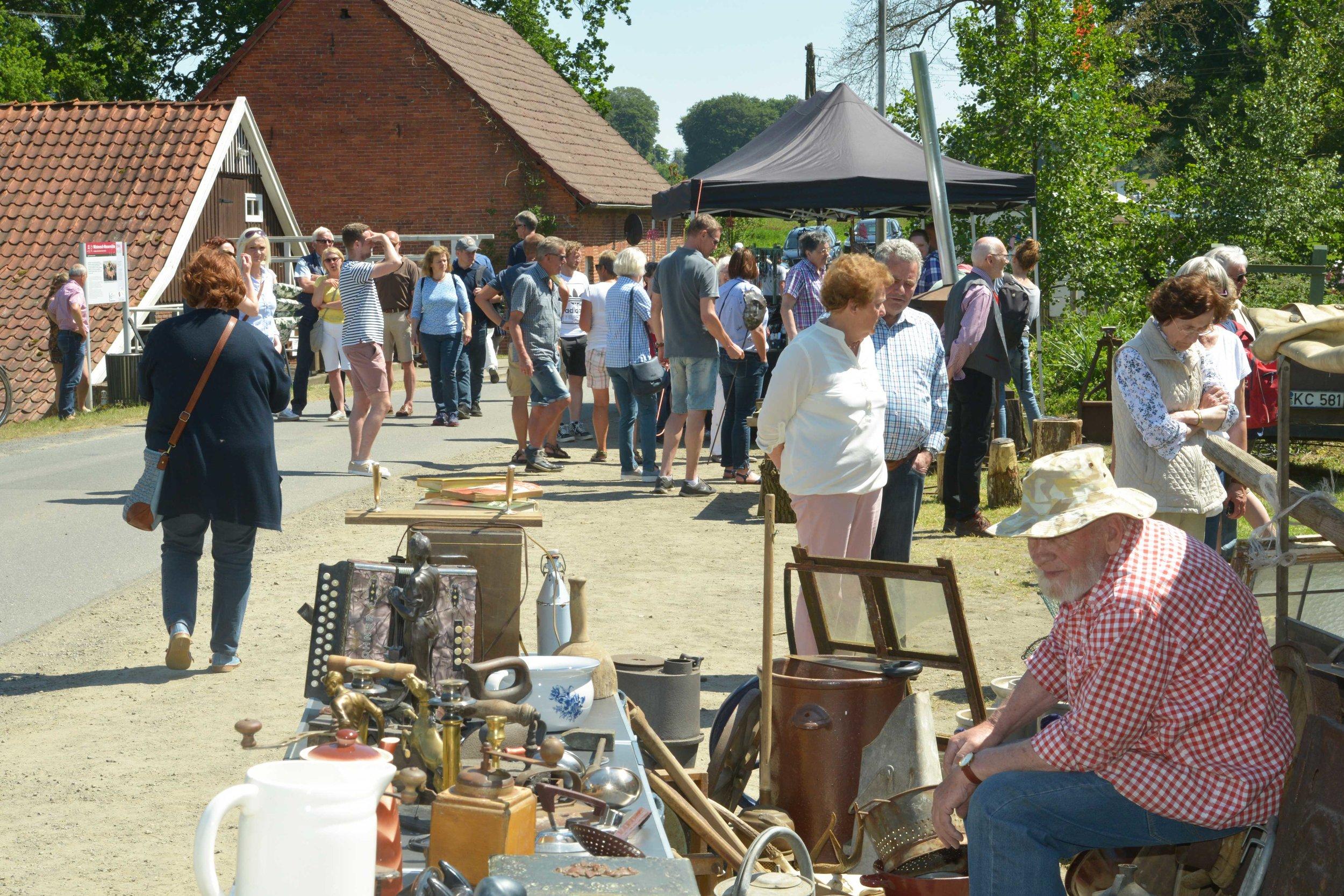 Ein buntes Programm mit Trödelmarkt können Besucher am Pfingstmontag bei der Wöstenesch-Wassermühle erleben.