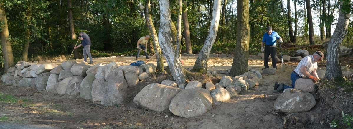 Viele Tonnen Steine wurden bei den Arbeiten am Sussumer Steinplateau bewegt