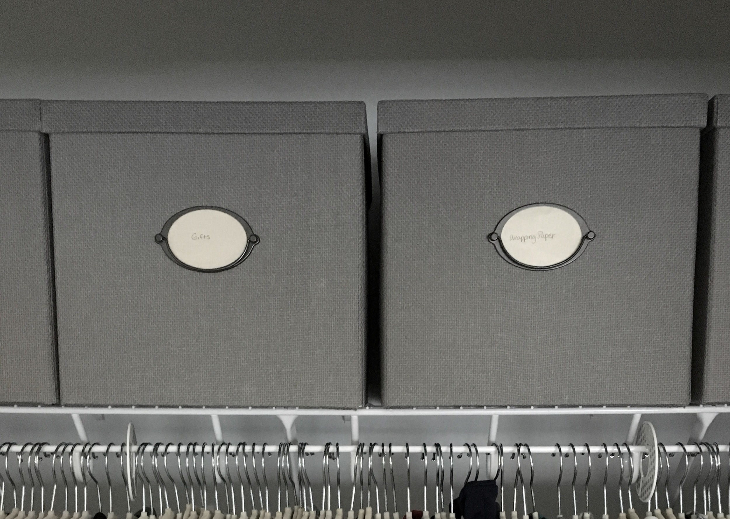 Storage boxes:  Ikea