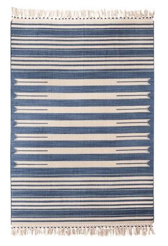 Mudhut Flatweave Striped Area Rug