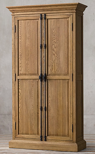 French Panel Double Door Cabinet  from Restoration Hardware