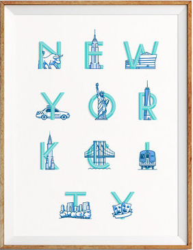 "ArmadaSupplyCo's "" New York City ."" So, so cute for a nursery."
