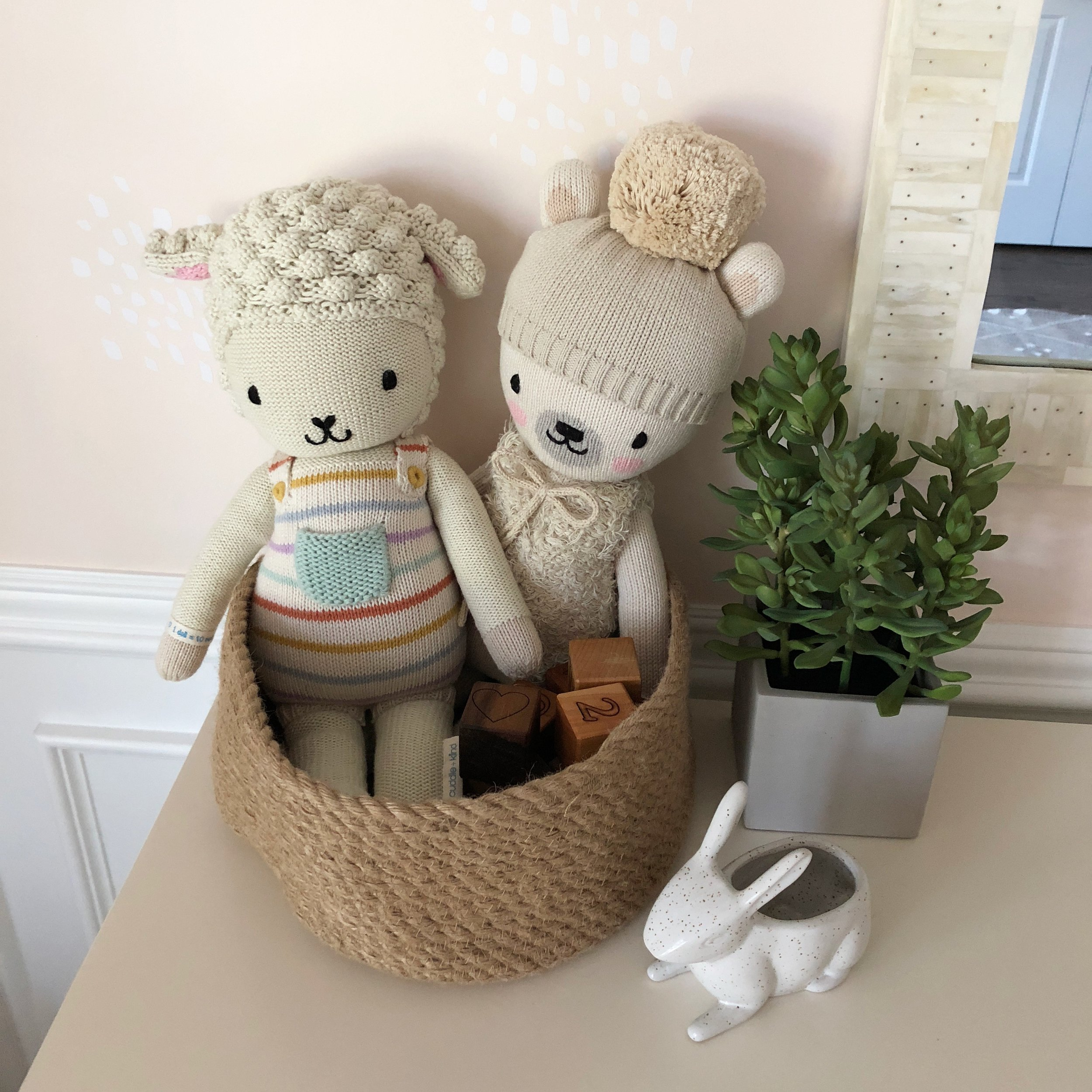 Close-up of the baby's Cuddle + Kind collection <3