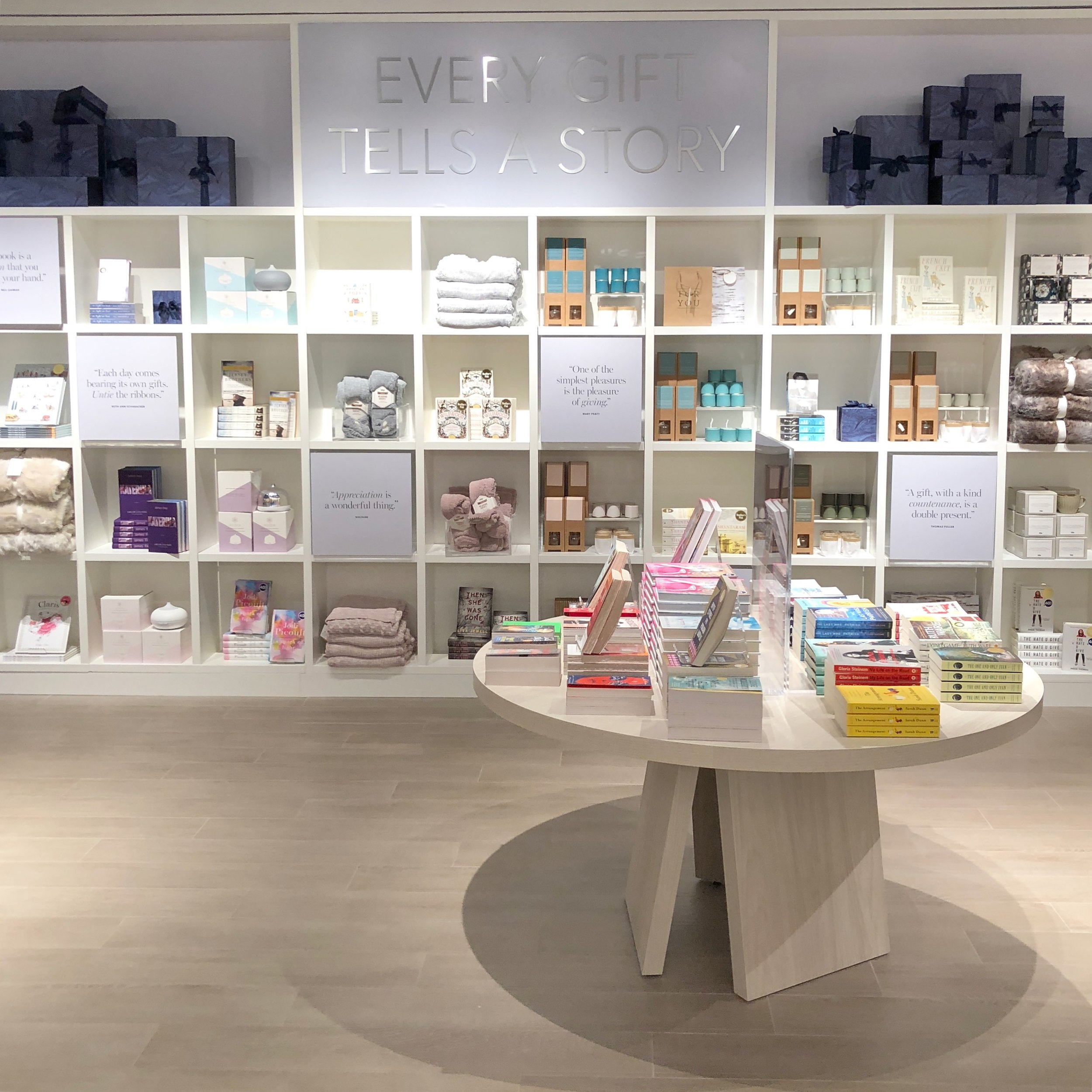 A snap of the curated gift section within Indigo.