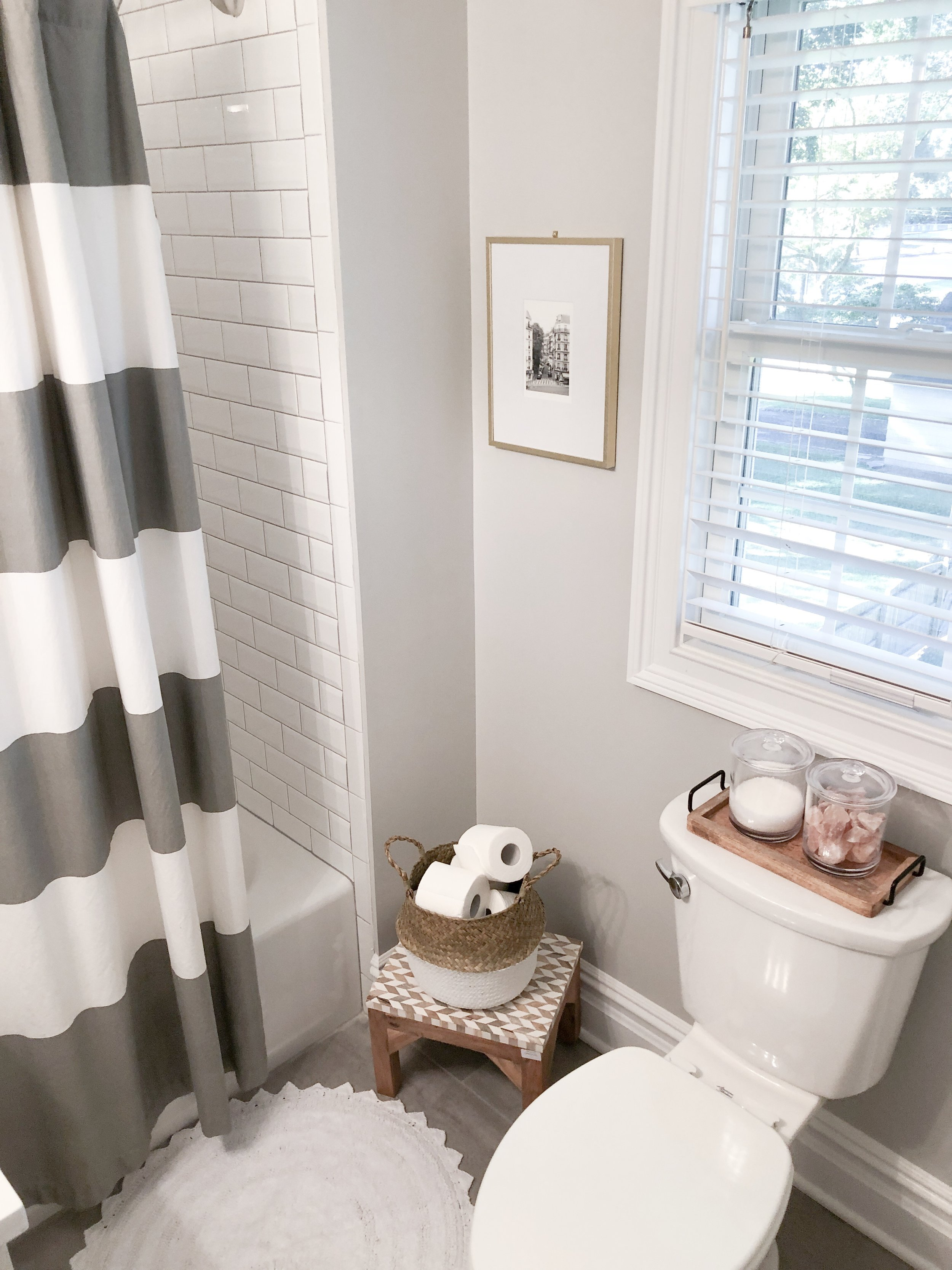 A look at our newly updated attic bathroom, courtesy of Walmart Home!