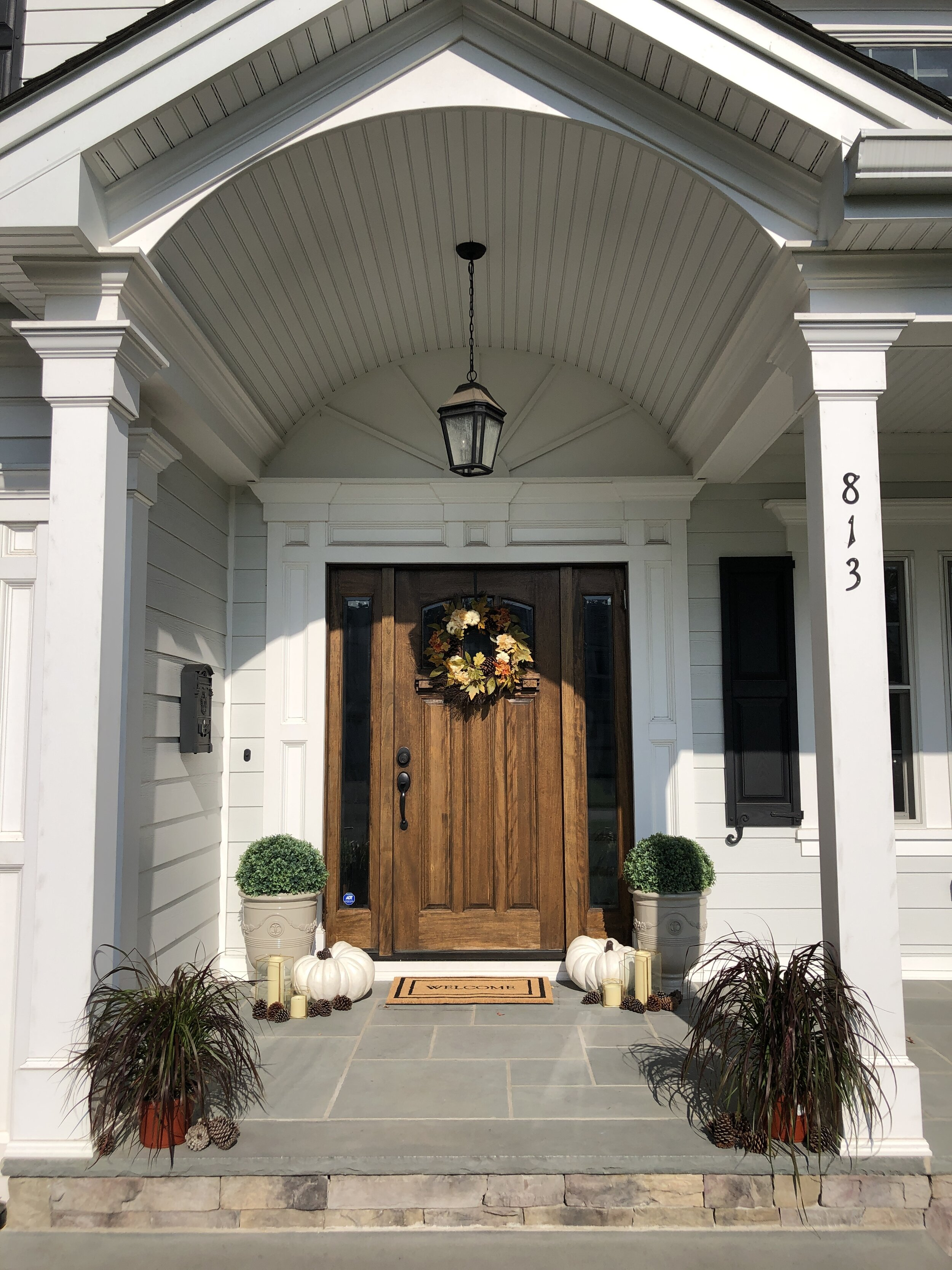 A look at our front porch decorated for Fall with all Walmart Home products!