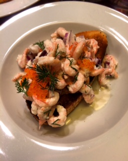 Prawns on toast
