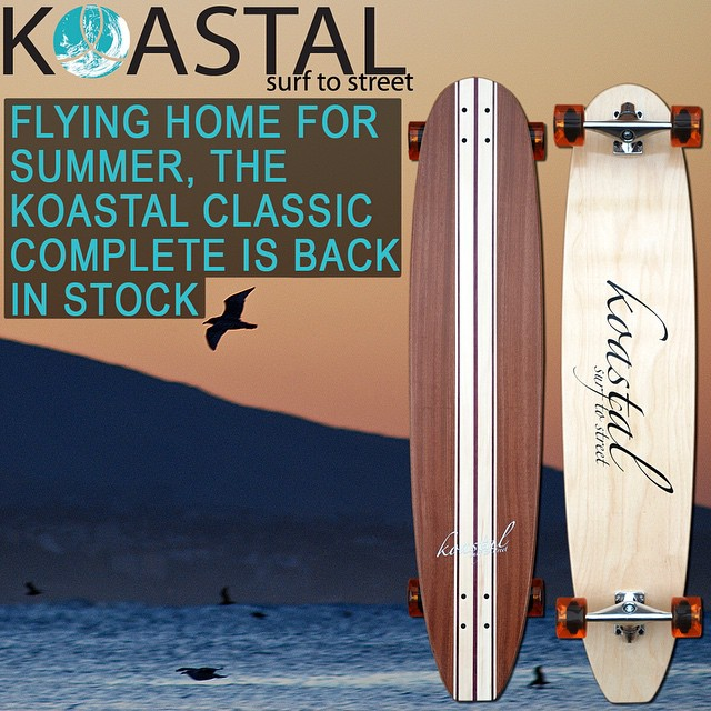 Get your Koastal Classic complete longboard today from Koastal.co  #koastal #longboards #madeinusa #usa #classic