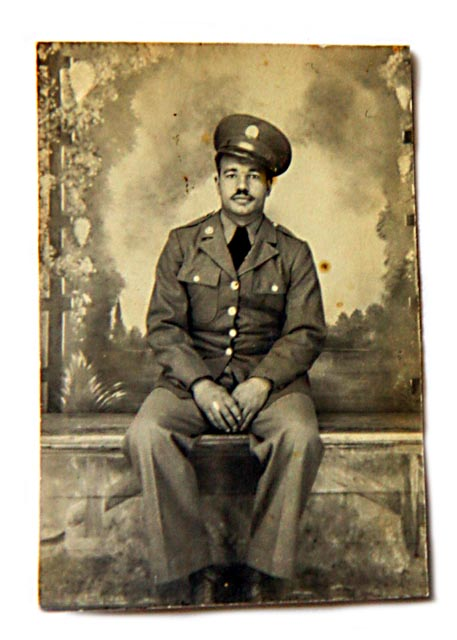 Decades after the war George Davison wrote his story in a notebook. It is one of the few personal histories that exist among men of the 320th.  Photo: Courtesy of Bill Davison
