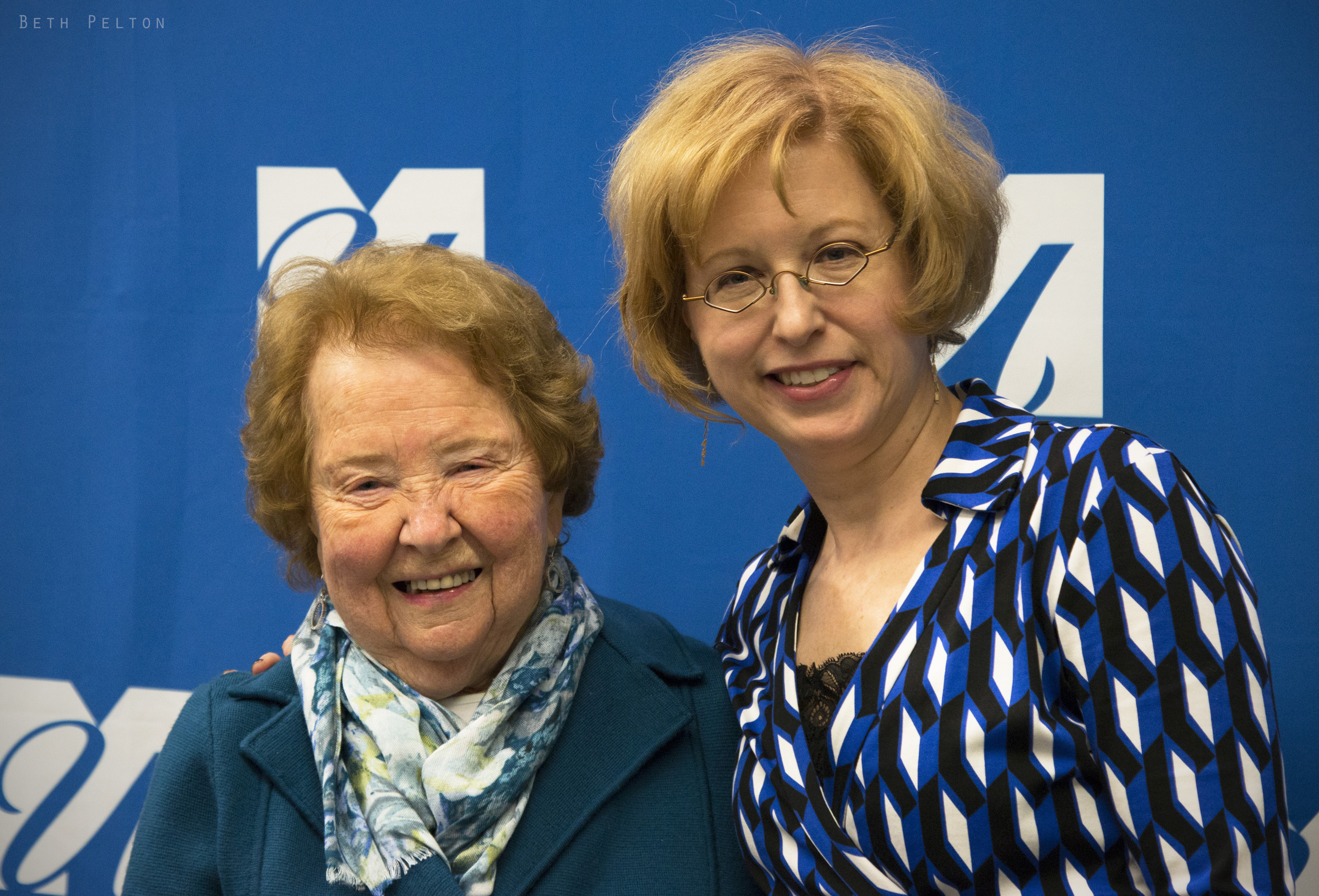 Here's Linda with her 93-year-old mother, Rose.