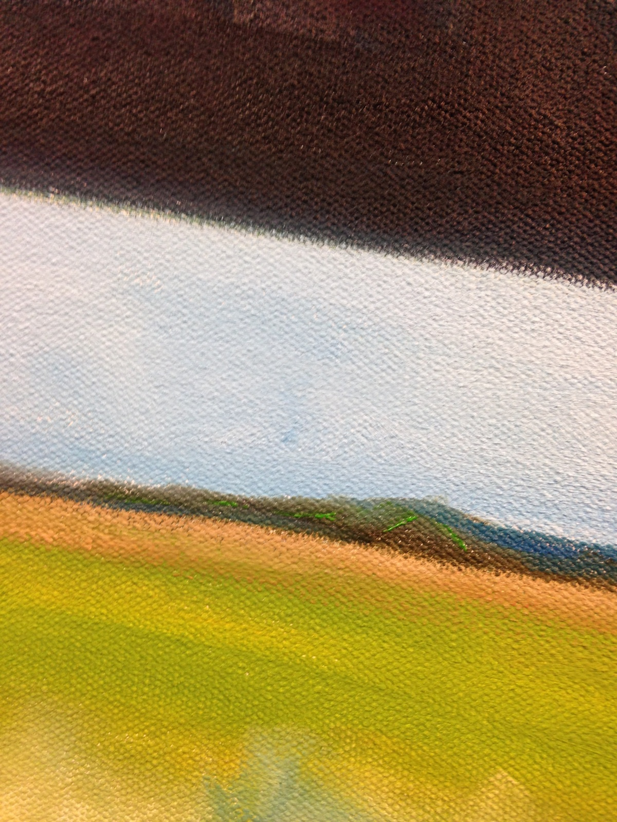detail of an unfinished painting