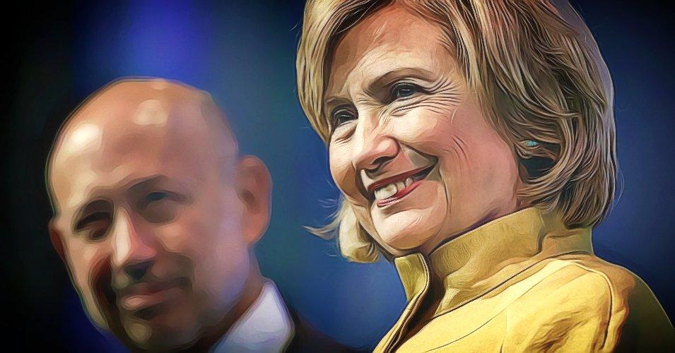 Hillary Clinton and Goldman Sachs CEO, Lloyd Blankfein, Reuters
