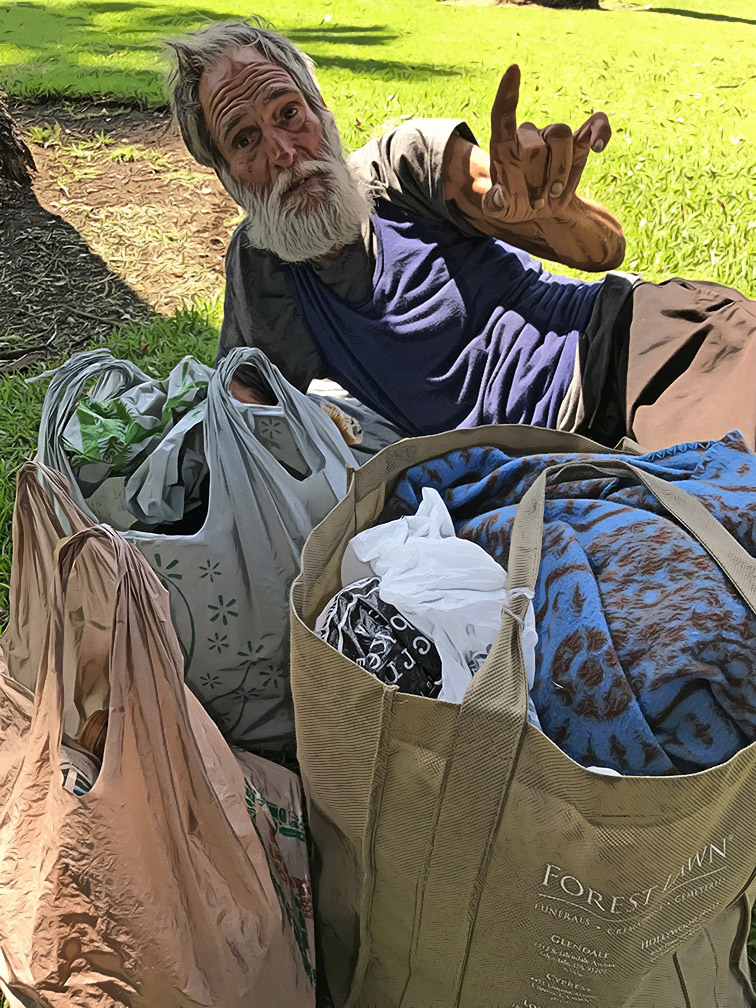 Alfred Catanese, homeless (Photo and Illustration / Doug Forbes