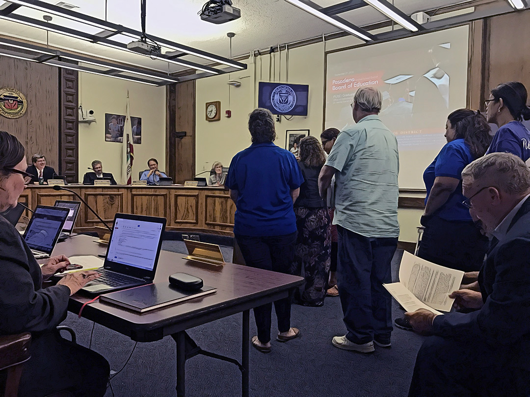 Pasadena Unified School District board meeting September 27 (Photo/Forbes)