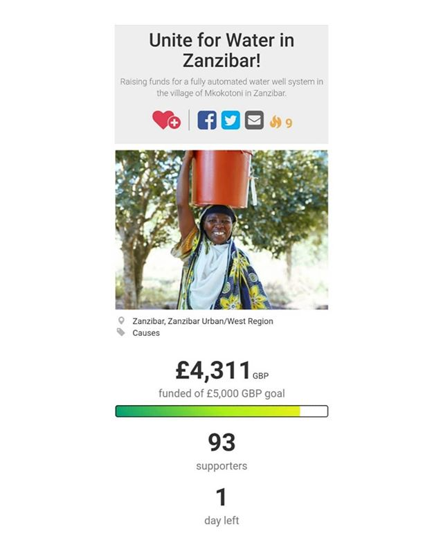 After a Ramadhan long campaign we have hit 87% target to fund TWO WATER WELLS in Zanzibar! This is an incredible opportunity to impact more than 1000 souls across two communities. It is also an ongoing charitable investment which will continue benefitting you in your book of good deeds for as long as that water flows! Click on the link on my bio to support and please help spread the word! 😄 I well and truly believe that #TOGETHERWECAN!! #spreadlove #soulsoftanzania #giveback #givewater #liveauthentic #charity #tanzania #zanzibar #zanzibarcharity #africacharity #supportthecause #withlove #waterforlife #makeportraits #documentaryphotography