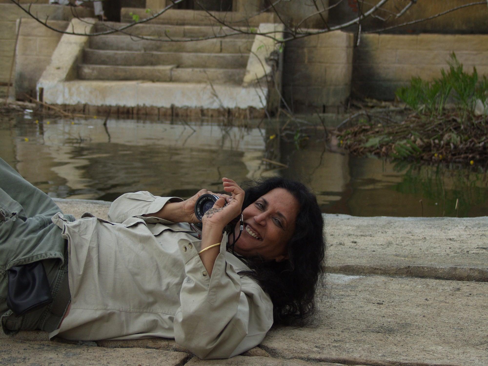 Water - Deepa on Ghats.JPG