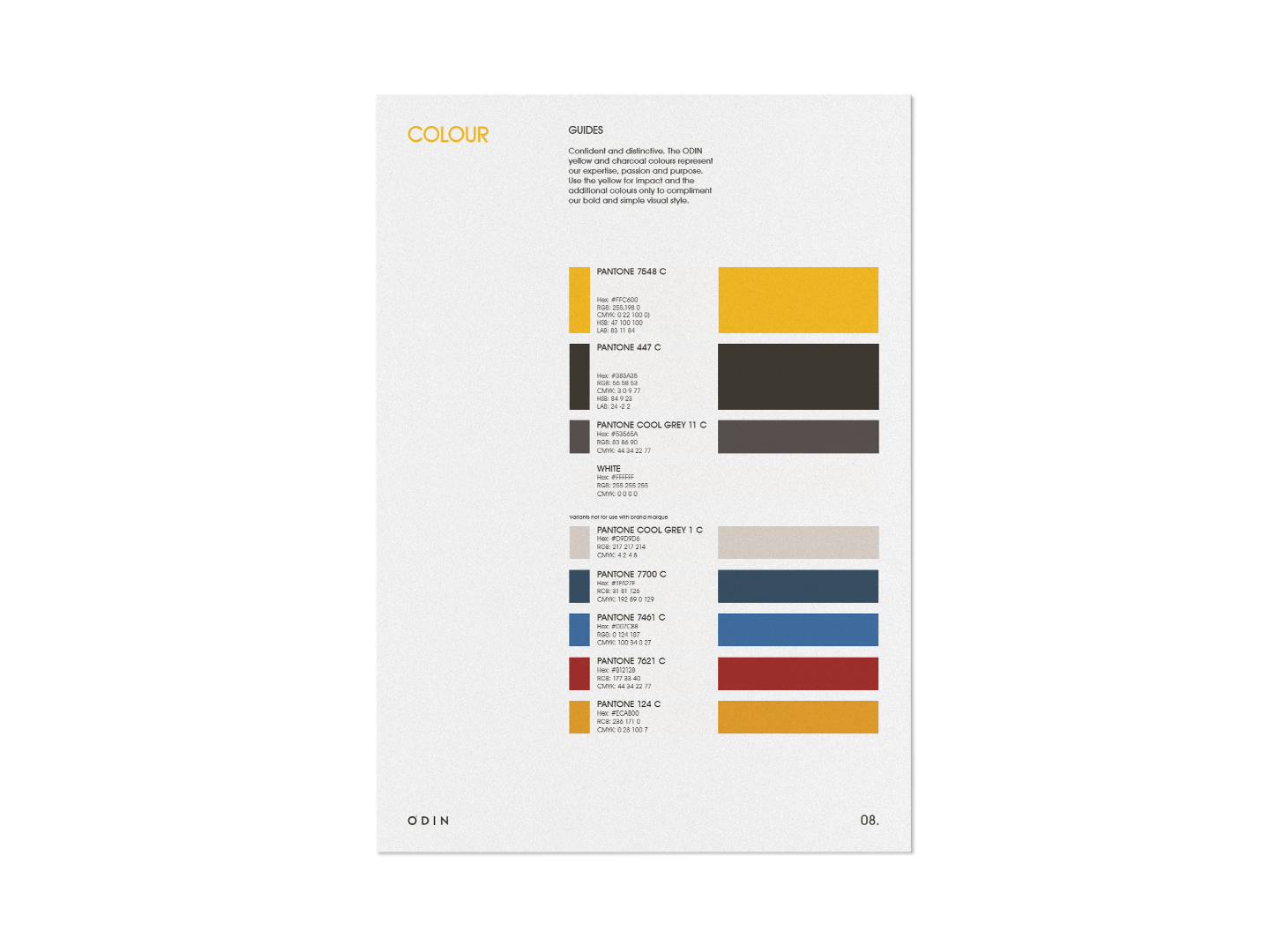 Brand Identity Guidelines Sample page