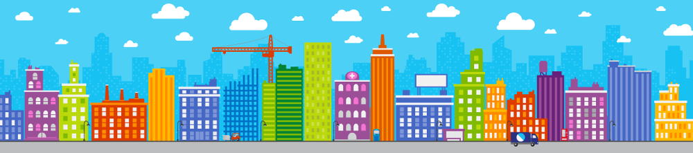 Simple animation elements and illustration for a Microsoft partner animation.