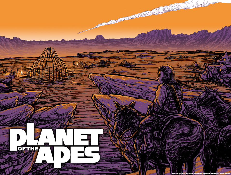 Planet of The Apes Poster via Zavvi and Acme Archives