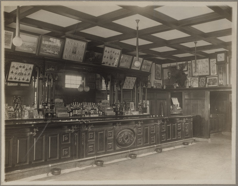 Interior of Third Base, Michael T. McGreevey's Saloon
