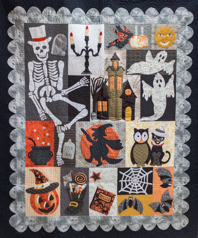 "Quilt pattern ""Happy Hauntings"" by Verna Mosquera."