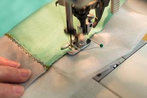 Starting our stitch.