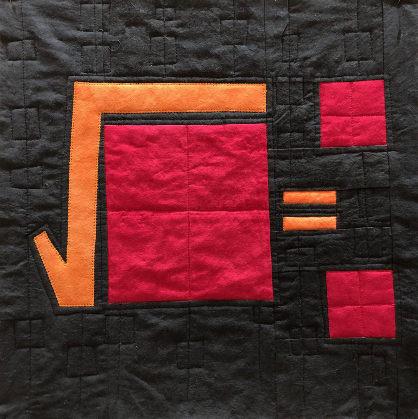 Square Root  By Susan Slesinger  Uses InvisaFil™, Splendor™ (rayon) and Spagetti™ (12 wt cotton thread).