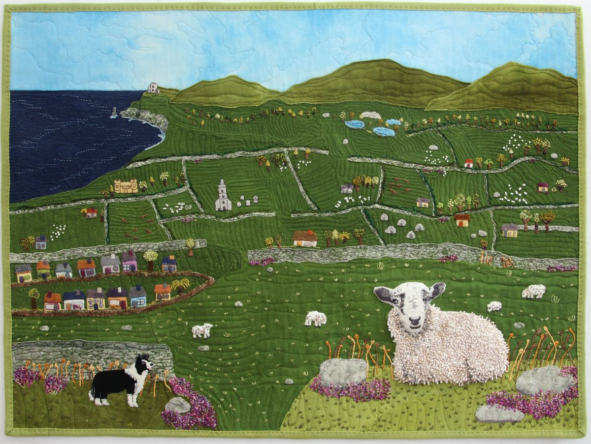 Claire's County Kerry  By Felice Dahlhausen using WonderFil's Eleganza™ perle cotton