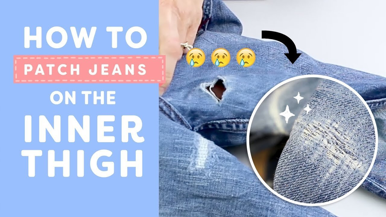 Wonderfil Specialty Threads How To Patch Jeans On The Inner Thigh