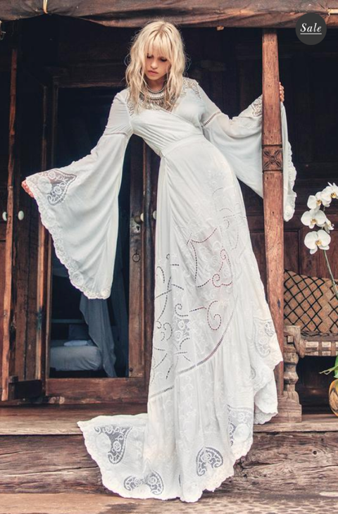 The Gwendolyn Wrap Gown – Spell Bride