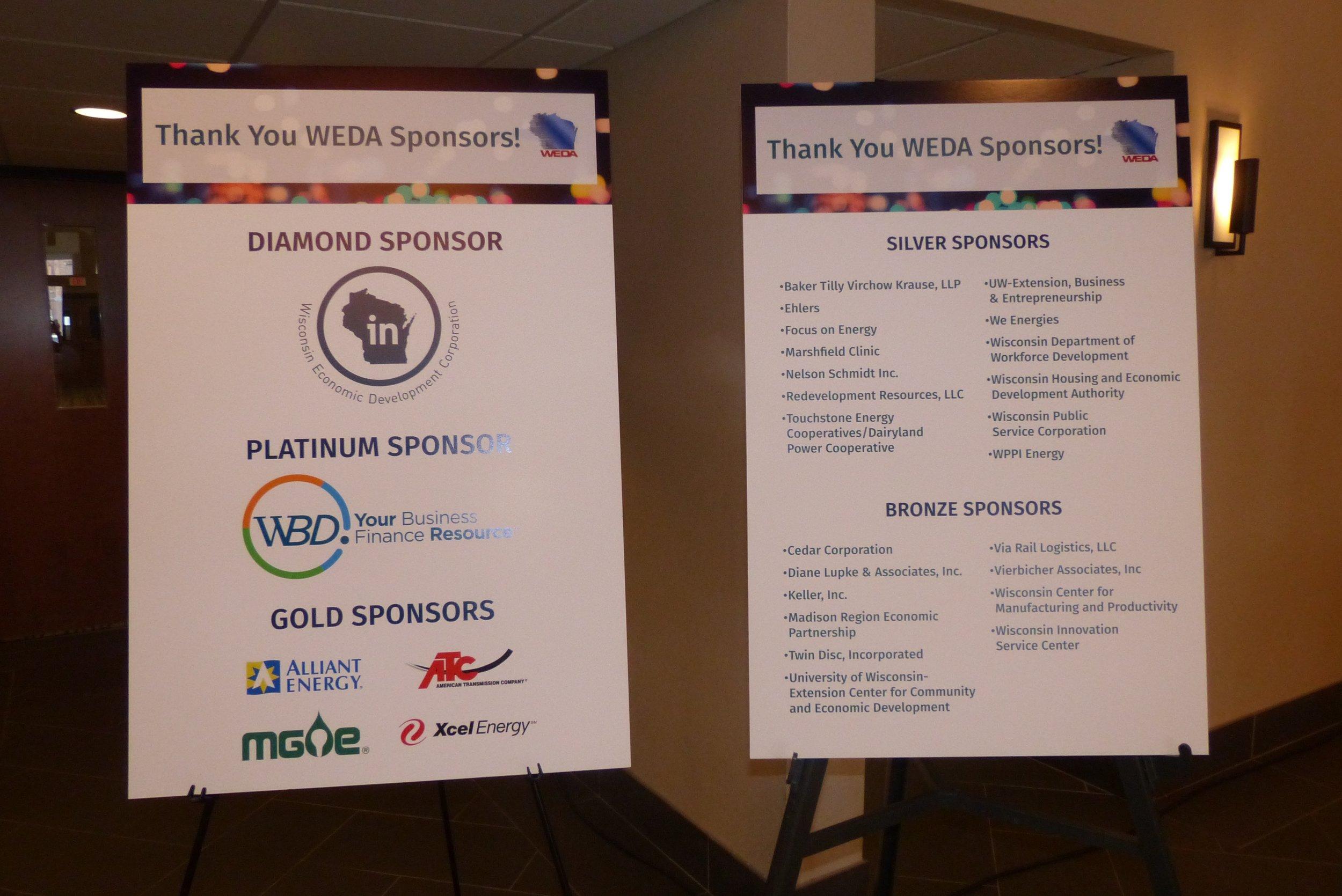 WEDA Sponsors
