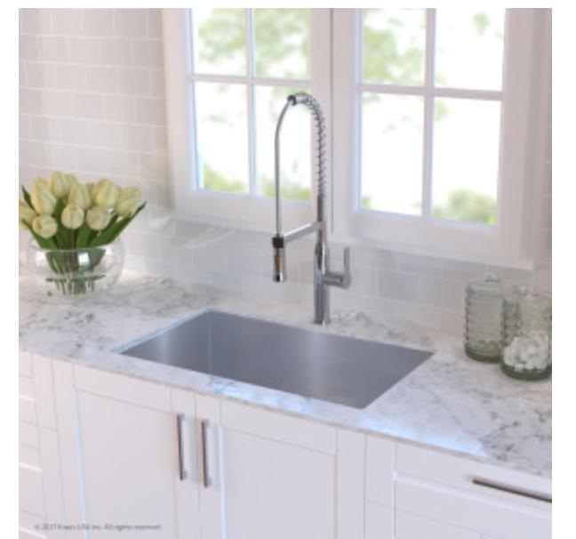 """Kraus Kitchen Sink 30"""" Single Basin Undermount Kitchen Sink, $269.95"""