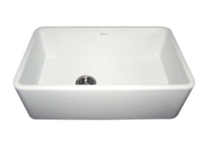"""Whitehaus Farmhaus Fireclay 30"""" Single Basin Apron Front Kitchen Sink, $1235.50"""