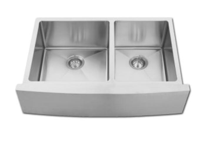 "Azhara Modern Farmhouse 35"" Double Basin Apron Front Kitchen Sink, $695.95"