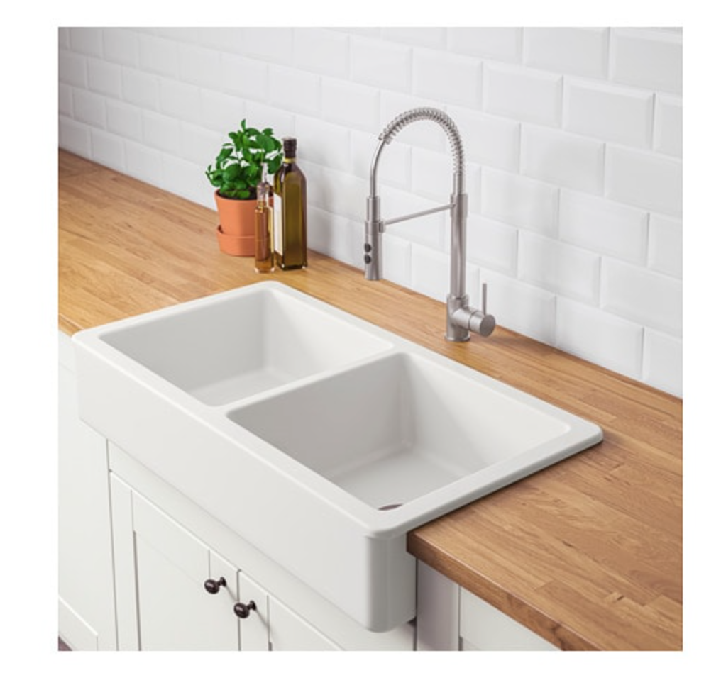 IKEA Havsen Apron Front Double Bowl Sink