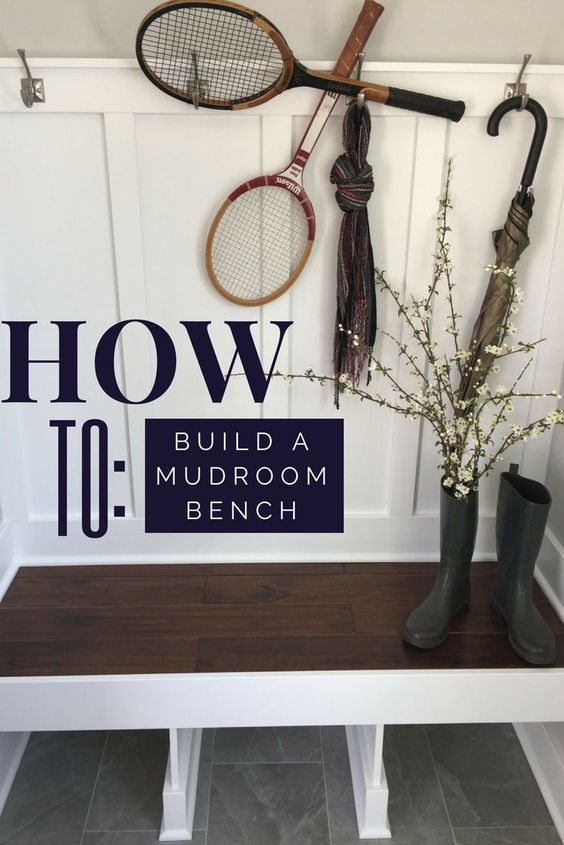How to build a custom mudroom bench