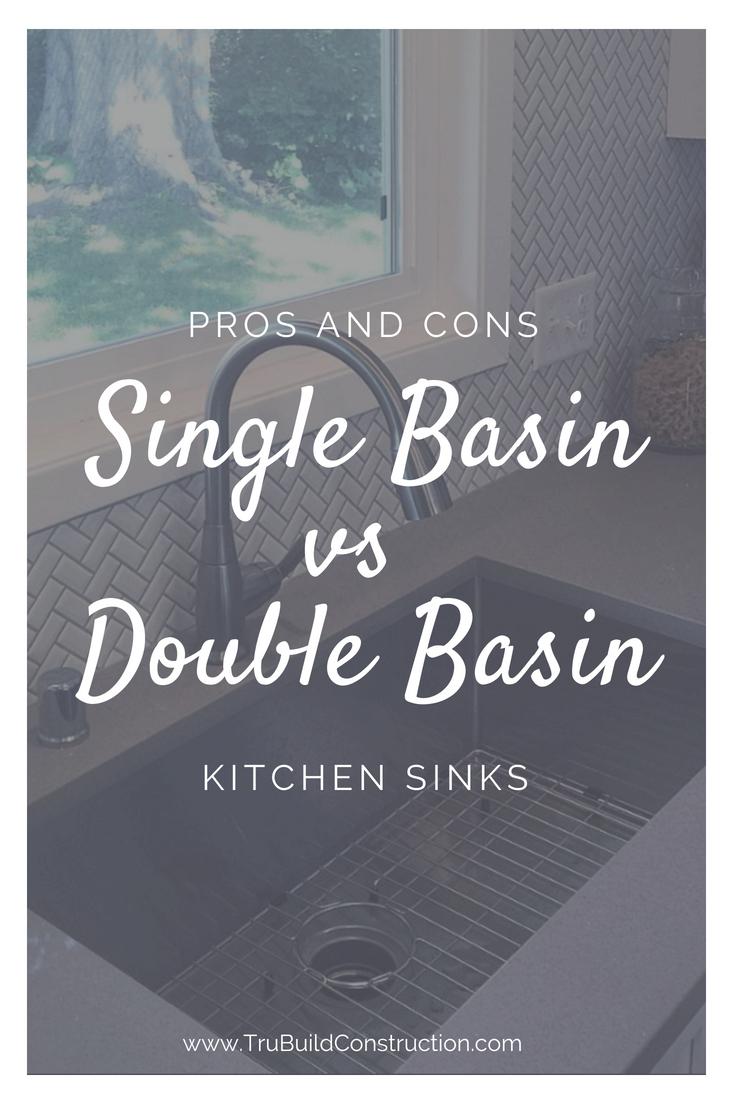 Single Basin vs. Double Basin Kitchen Sinks