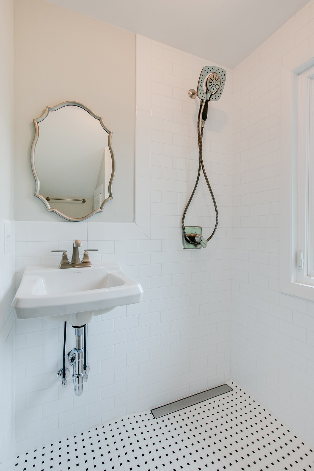 Linear Drains Allow for Curbless Showers when remodeling a bathroom to age in place