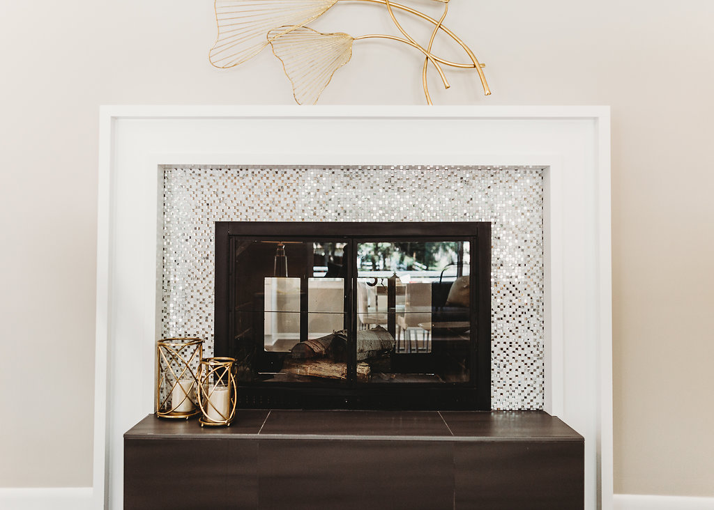 How to Build a Modern Fireplace Mantel - Five Steps to DIY a modern fireplace mantel