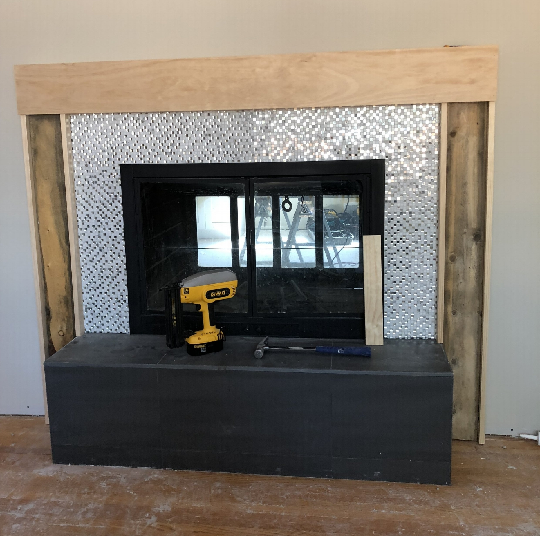 How to Build a Modern Fireplace Mantel - Step Three