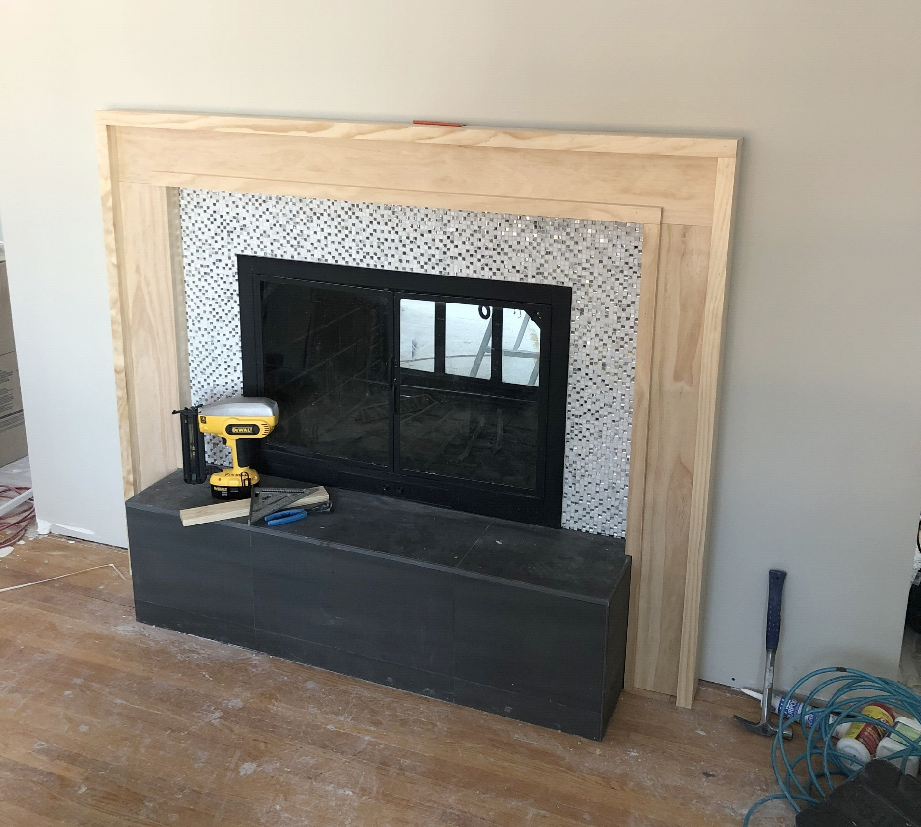 How to Build a Modern Fireplace Mantel - Step Four