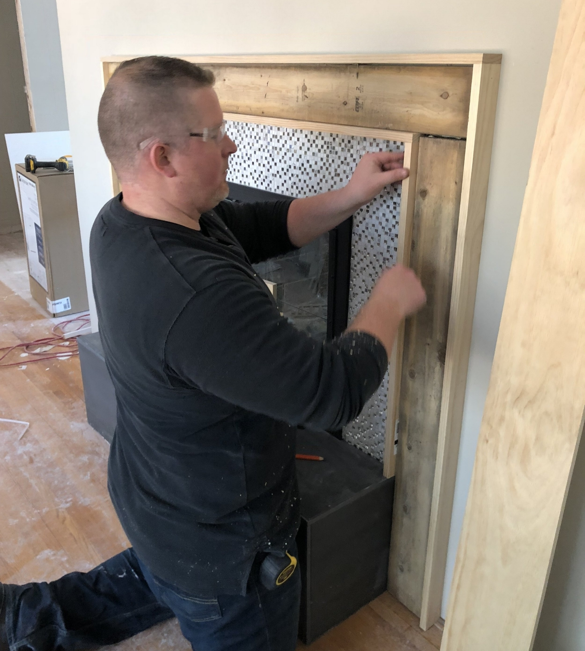 How to Build a Modern Fireplace Mantel - Step Two