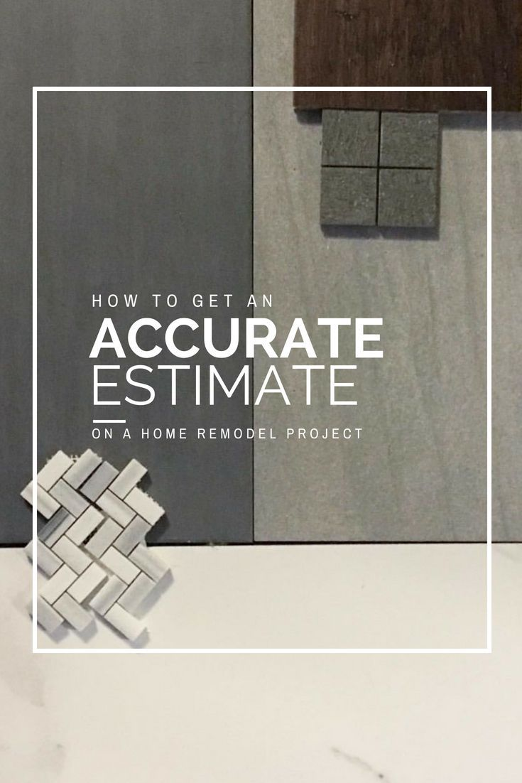 how to get an accurate estimate