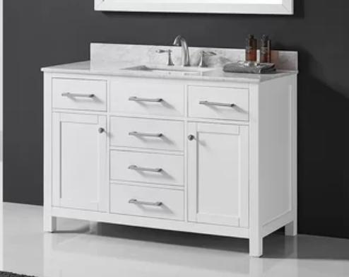 """Palacios 48"""" Single Bathroom Vanity Set with Mirror, $1379"""