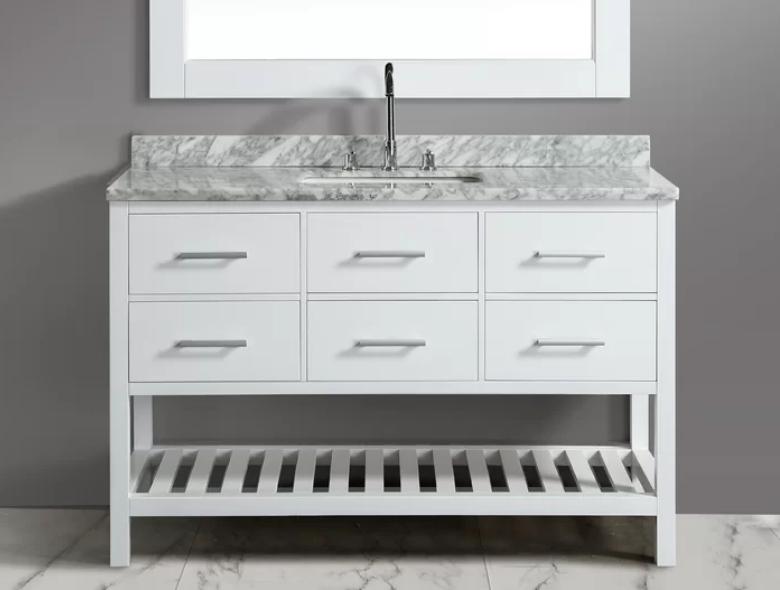 "London Cambridge 54"" Single Bathroom Vanity Set with Mirror, $1449"