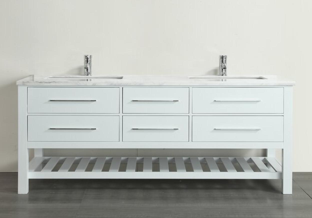 """Bratcher 60"""" Double Bathroom Vanity Set, $1368"""