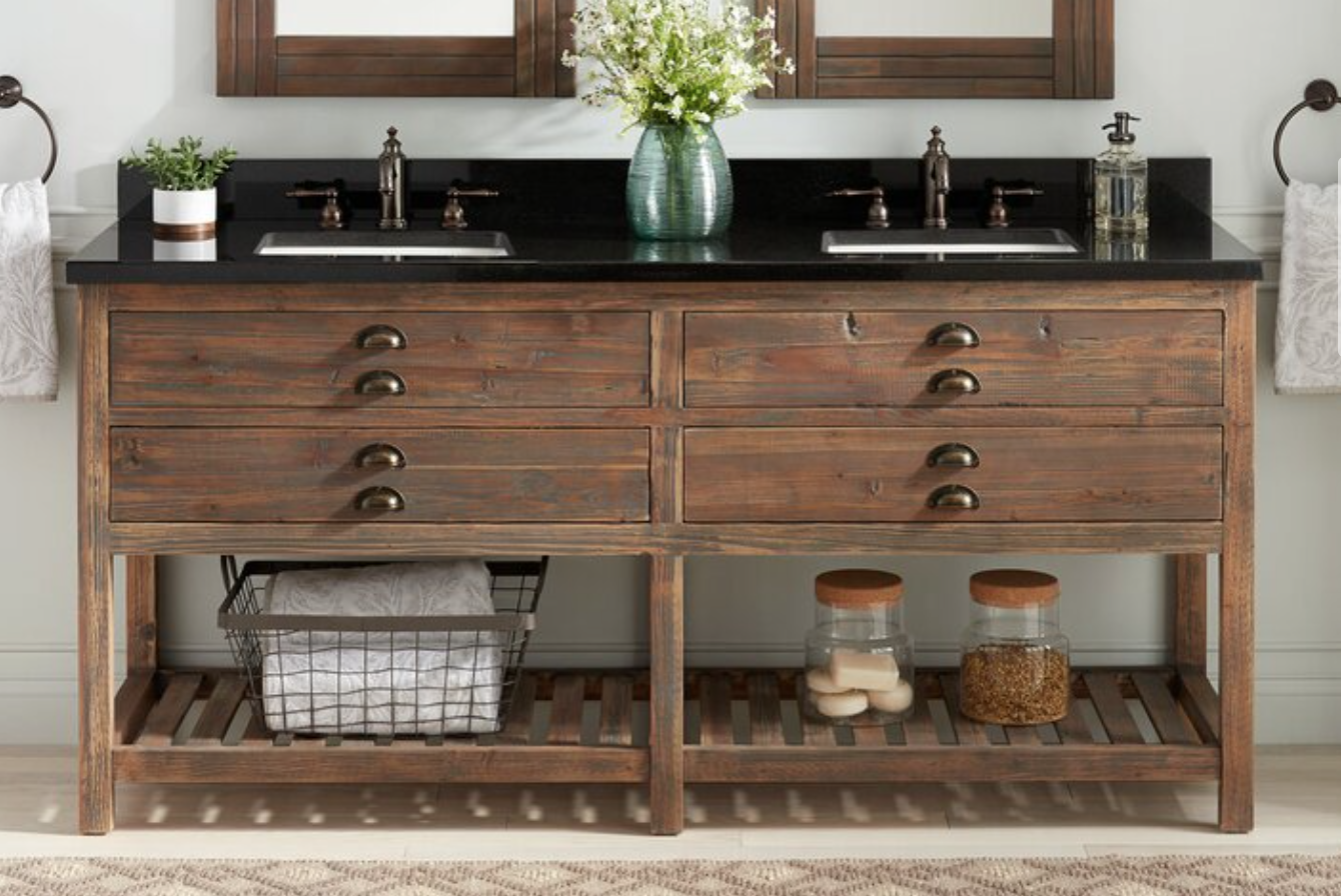 "Benoist 73"" Double Bathroom Vanity Set, $2599"